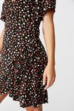 Emily Wrap Dress, MULTI FLORAL PINK