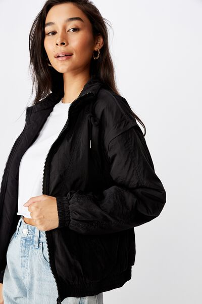 Coco Zip Thru Jacket, BLACK
