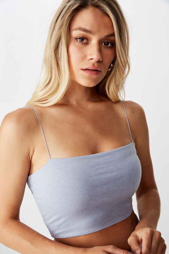 Sara Thin Strap Crop, BLUE RIDER MARLE