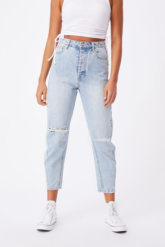 The Balloon Ripped Jean, LAUNDERED BLUE RIPPED