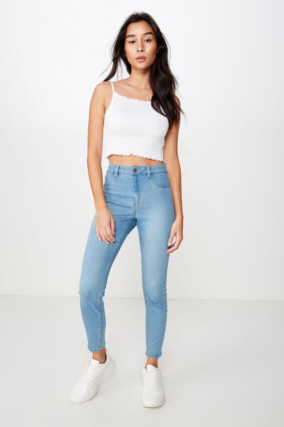Short Super Skinny Jean, WAVE BLUE