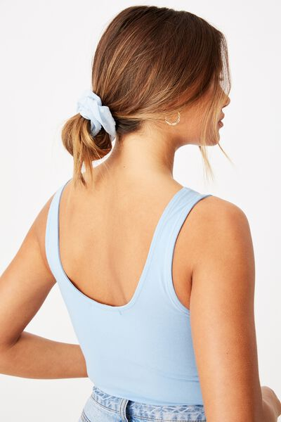 Textured Dobby Scrunchie, BABY BLUE