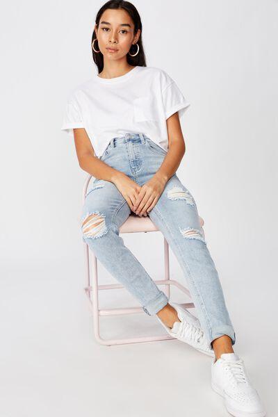 Skinny Premium Mid Rise Jean, SKY BLUE