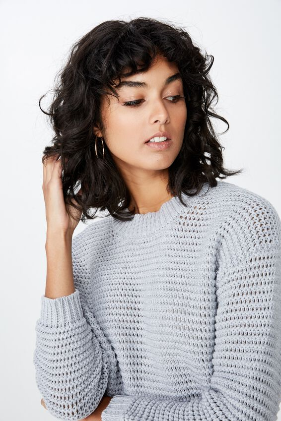 Spencer Chunky Knit, GREY MARLE