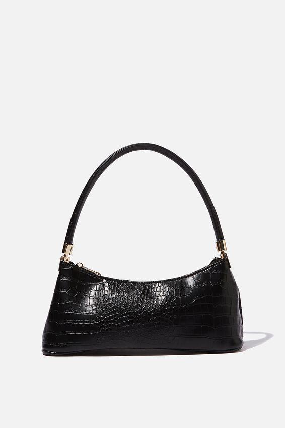 Gia Luxe Shoulder Bag, BLACK