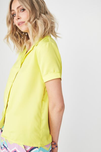 Satin Sleep Shirt, LIME