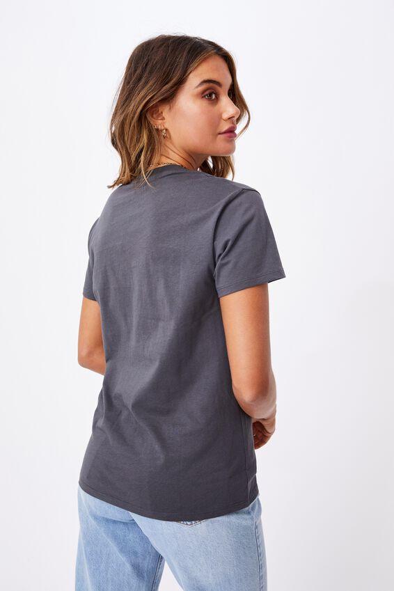 Lola Printed Longline T Shirt, GRANITE GREY/MYSTIC UNIVERSE