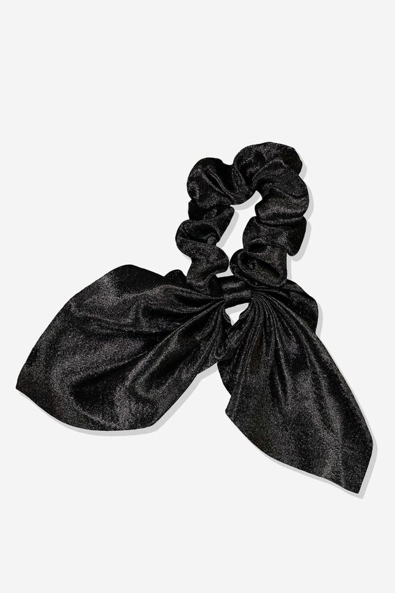 Scarf Scrunchie, SHINY BLACK