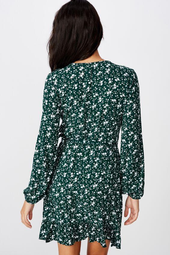 Drew Long Sleeve Wrap Dress, TAHLIA FLORAL