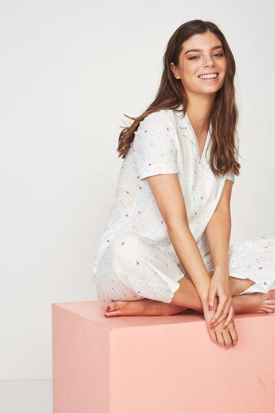 Cotton Sleep Shirt, COLOURFUL GALAXY