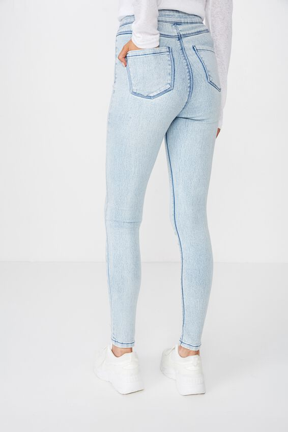 Super Skinny Sky High Jean, AQUATIC BLUE
