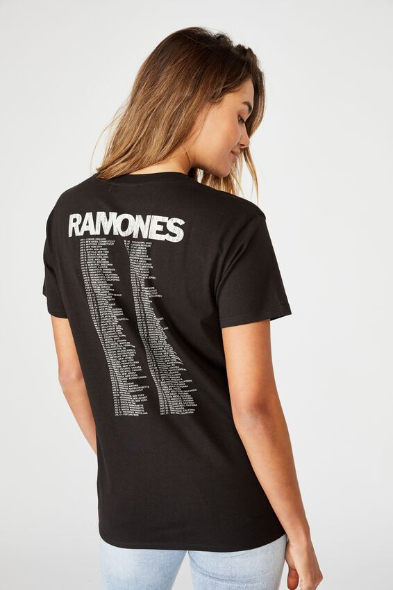 Ramones Band Tee, BLACK/LCN MT RAMONES WORLD TOUR