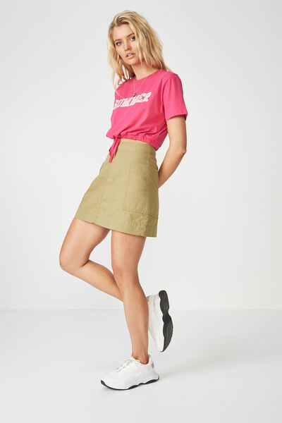 Daisy Draw String Tee, BEETROOT PINK/SUMMER
