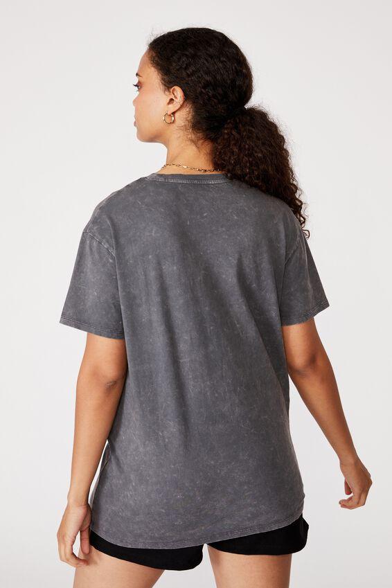 Lola Printed Longline T Shirt, GRANITE GREY/WILD AND FREE