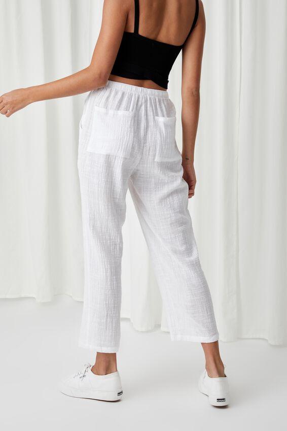 Havanah Pull On Pant, WHITE