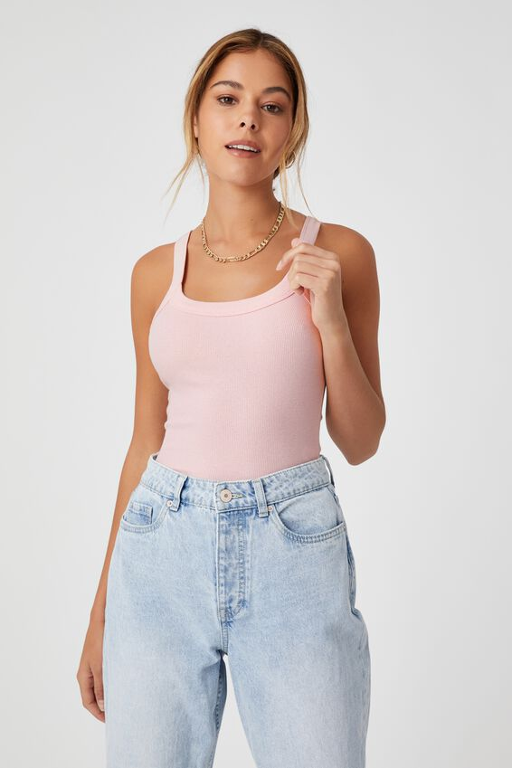 Abby Scoop Neck Tank, PINK FROSTING
