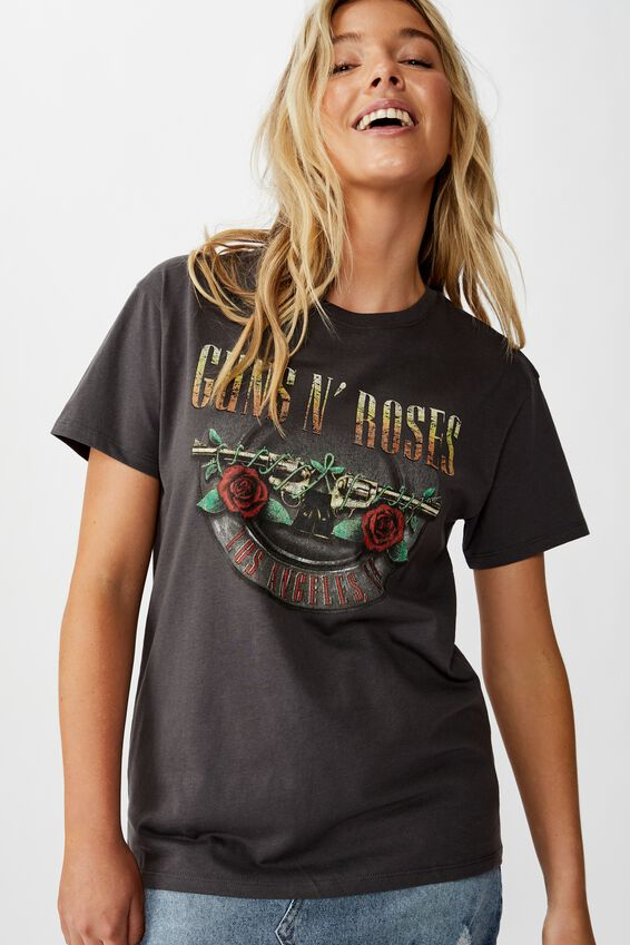 Guns N' Roses Tee, GRANITE GREY/GUNS N ROSES LOS ANGELES