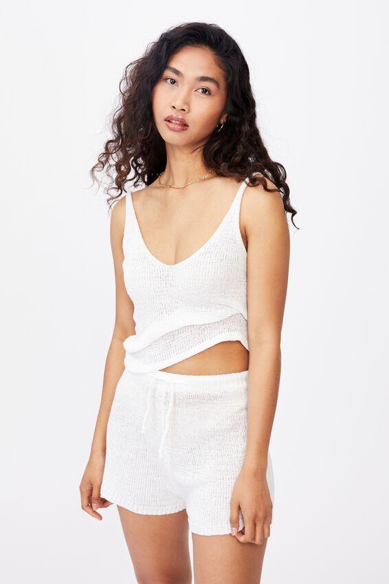 Lindsey Knit Short, WHITE