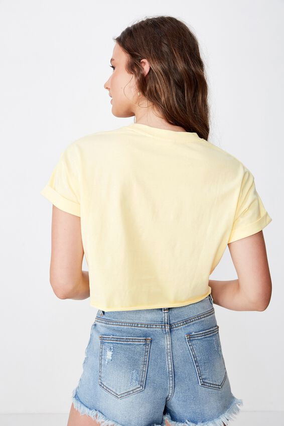 Tamara Graphic Crop Tee, LIMONCELLO/WESTPORT BEACH