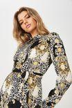 Paris Satin Shirt Dress, ITALIAN LEOPARD