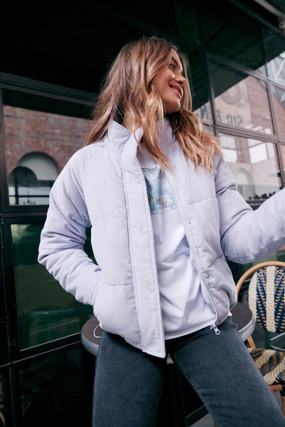 Cosy Puffer Jacket, LAVENDER