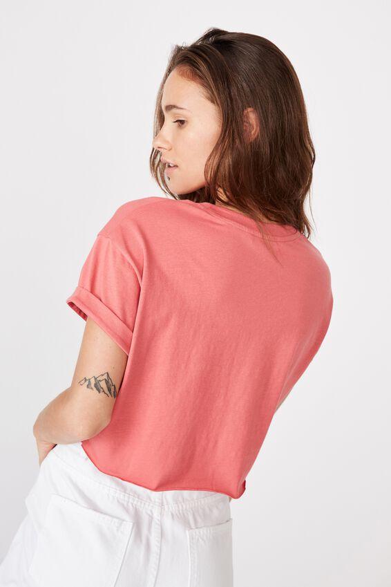 Tamara Printed Crop T Shirt, VINTAGE ROSE/CALABASAS COUNTY