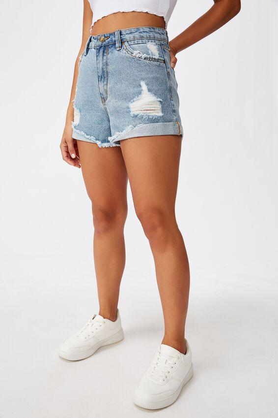 Newport Shorts, AUTHENTIC BLUE RINSE/TURN UP HEM