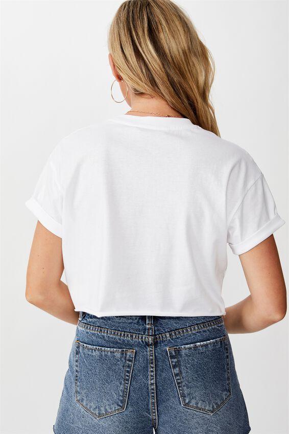 Tamara Printed Crop T Shirt, WHITE WASHINGTON
