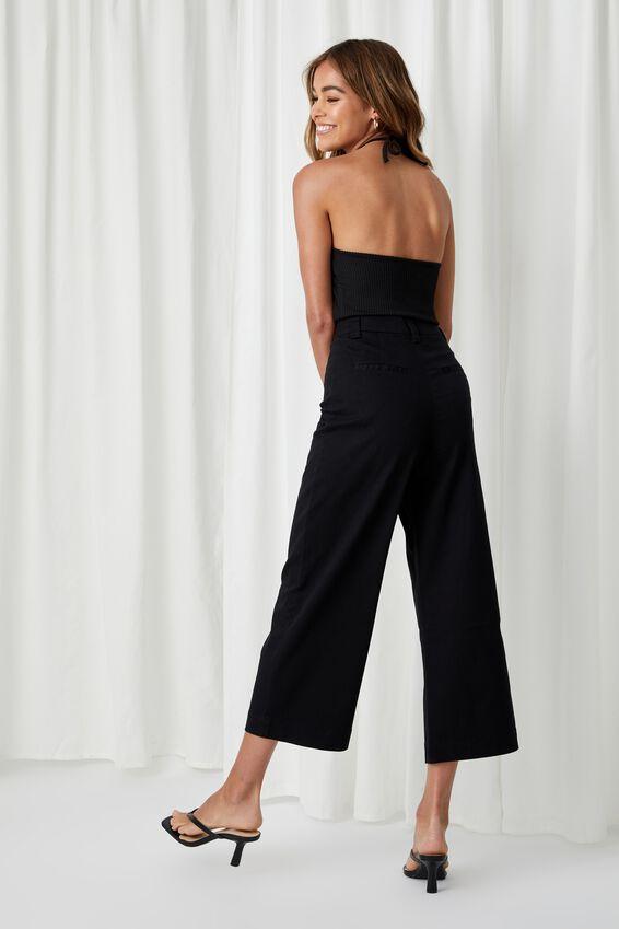 Zoe Wide Leg Pant, BLACK