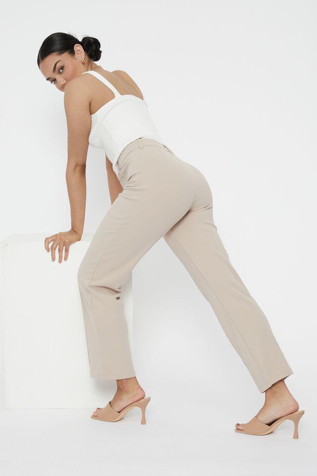 Kyla Straight Leg Pant, FROSTED ALMOND