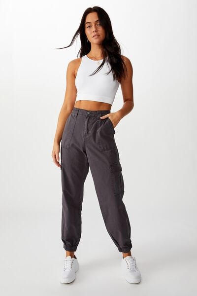 Kendra Cargo Pant, CHARCOAL