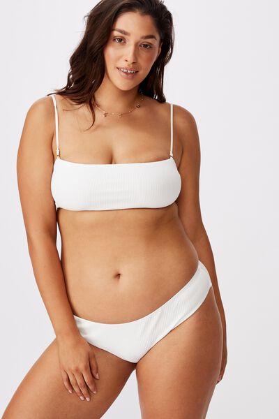 Noosa Seamless Bikini  Bottom, WHITE RIB