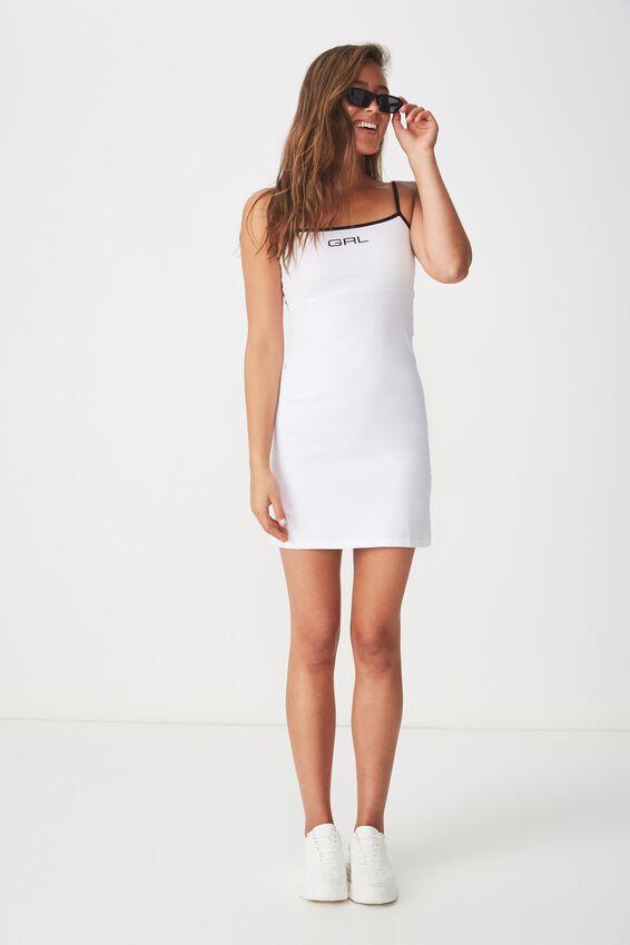 Summer Cami Dress, WHITE/PRINT