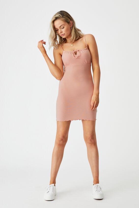 Francesca Knit Mini Dress, ROSE QUARTZ PINK