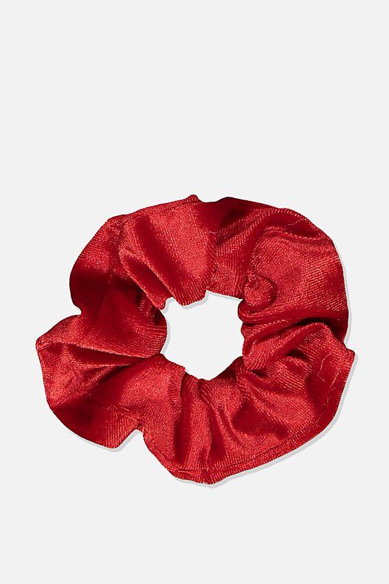 Scrunchie, PLUSH TRUE RED