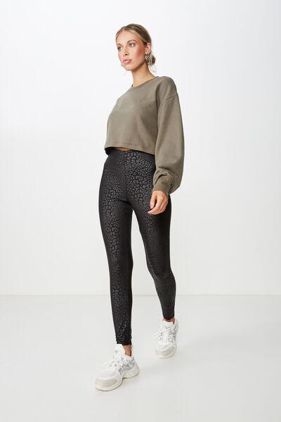 Chantel Fashion Legging, BLACK PRINT PU