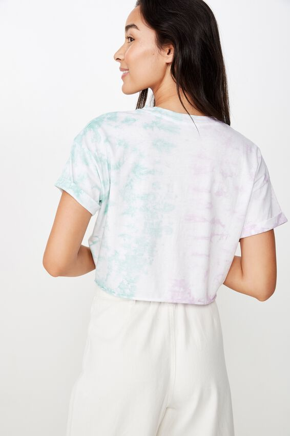 Tamara Graphic Crop Tee, TIE DYE
