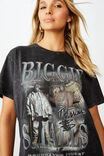 Kendall Printed T Shirt, WASHED BLACK LCN MT BIGGIE COLLAGE