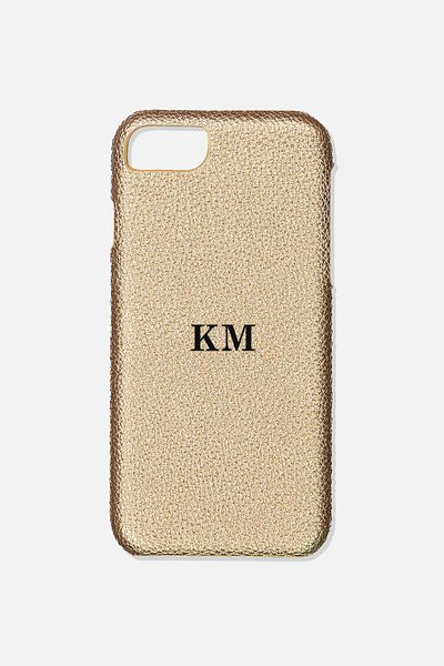 Customised Phone Cover- iPhone 6/7/8, GOLD PEBBLE