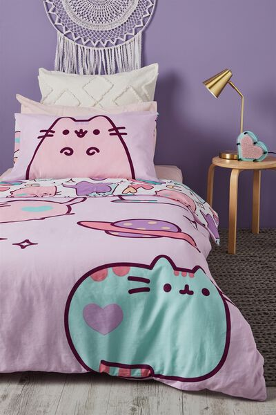 Pusheen Single Bed Spread, PUSHEEN/SINGLE