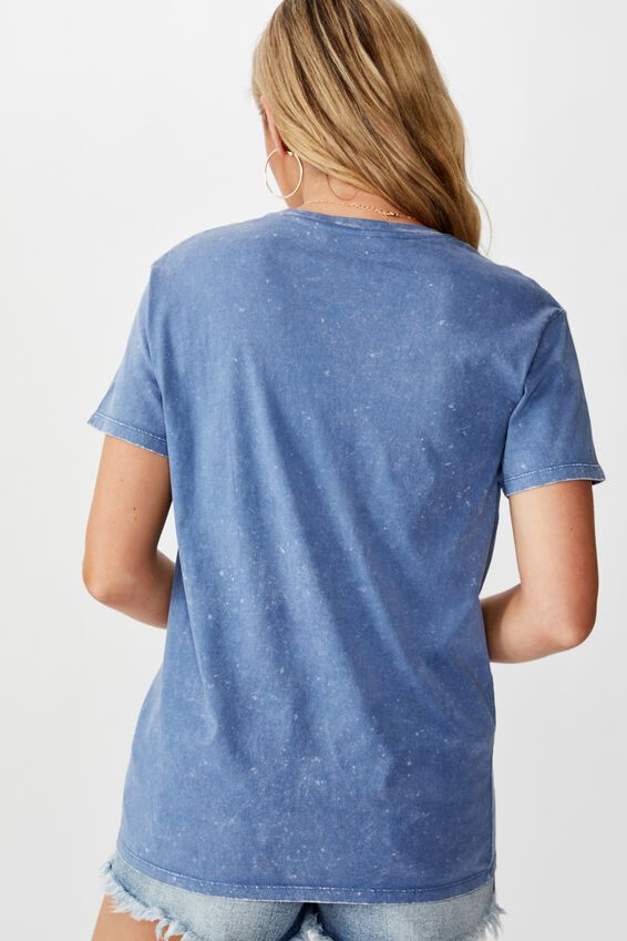 Lola Printed Longline Tee, WASHED JEAN BLUE/I LOVE THIS