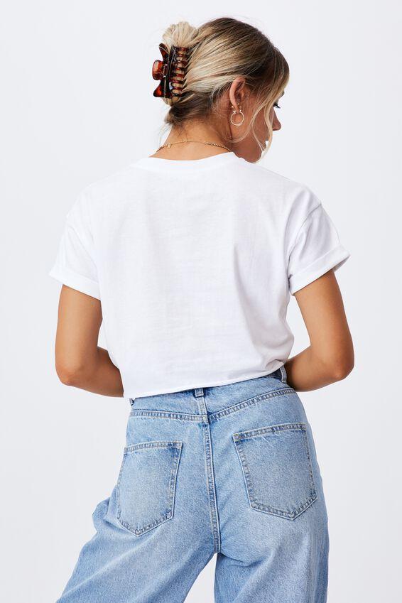 Tamara Printed Crop T Shirt, WHITE/FLORIDA DOLPHINS