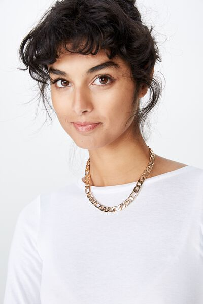 Bold Link Chain Necklace, GOLD