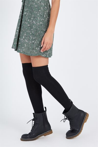 Over The Knee Socks, BLACK