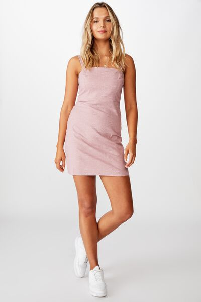 Rome Wide Strap Dress, RICE SPOT PINK