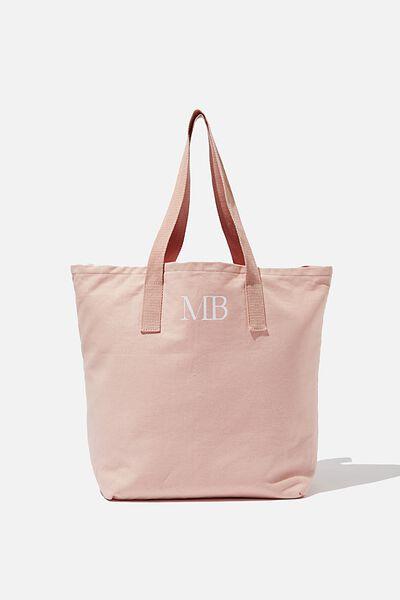 Customised Canvas Tote Bag, PLAIN PEACH MALIBU