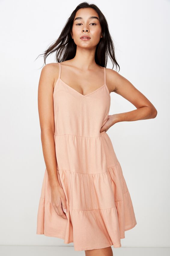 Sunlover Slip Dress, PEACH