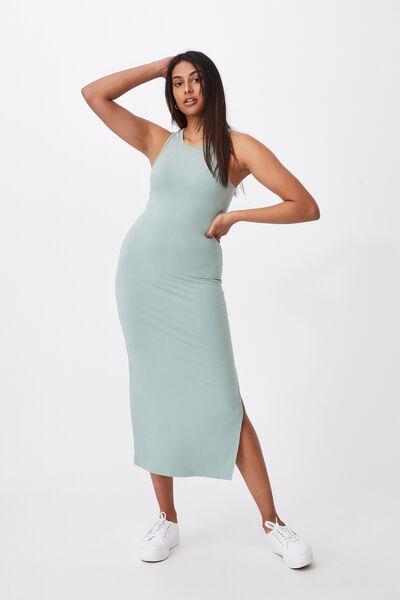 Brynn Rib Maxi Dress, SOFT MOSS