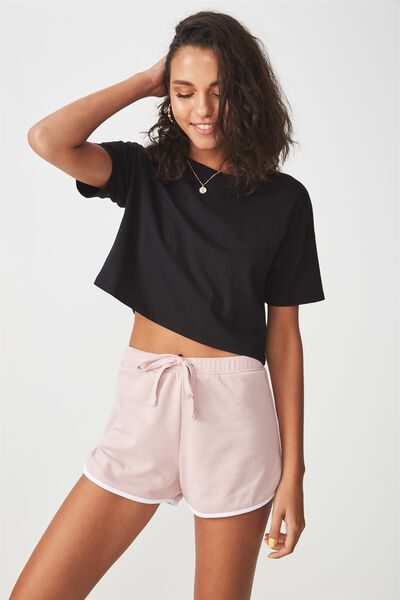 Basic Sweat Short, MAUVE PINK