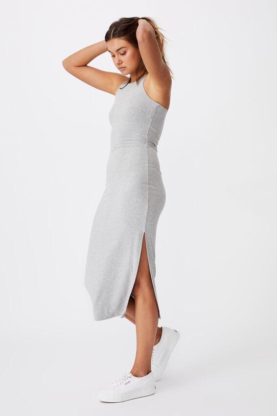 Brynn Rib Maxi Dress, GREY MARLE